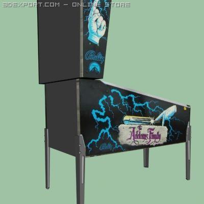 Addams Family Pinball 3D Model