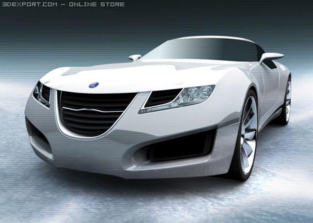 Saab Aero X Concept 3D Model