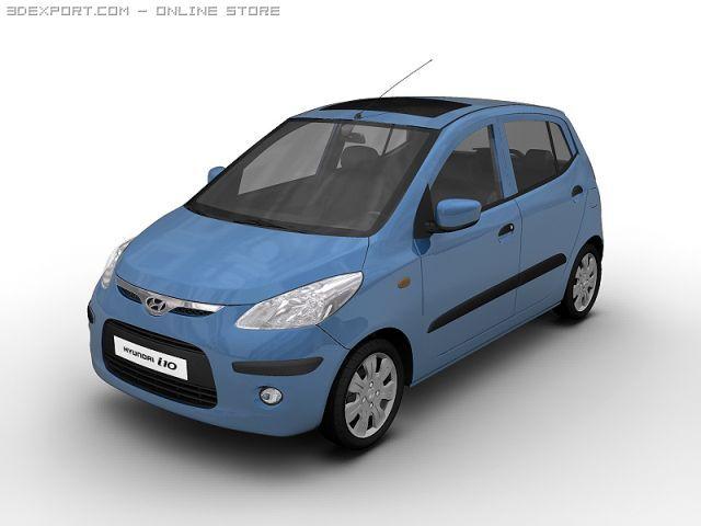2008 Hyundai i10 3D Model
