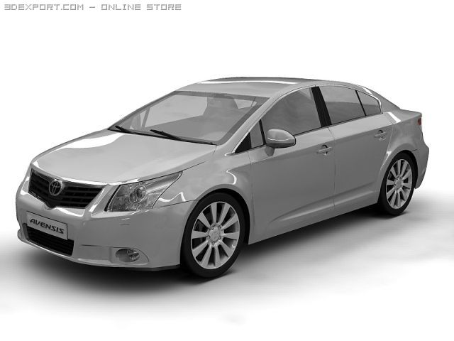 2009 Toyota Avensis 3D Model