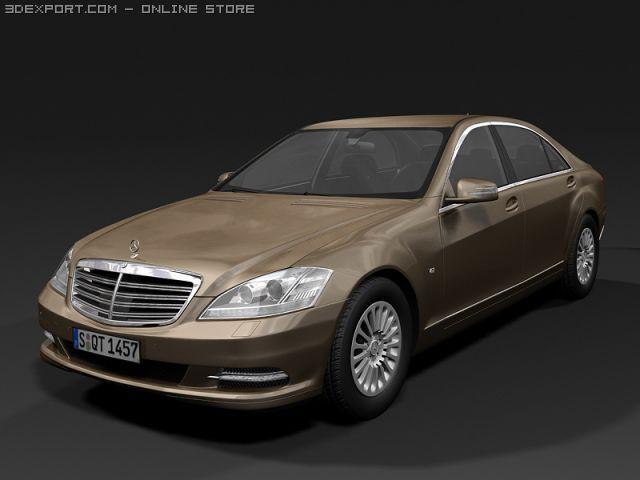 2010 Mercedes Benz S Class 3D Model