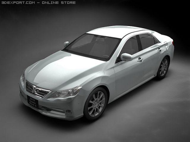 2010 Toyota Mark X 3D Model