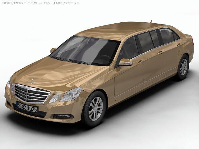 2010 Mercedes Benz EClass Limo 3D Model