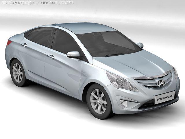 2011 Hyundai Verna 3D Model