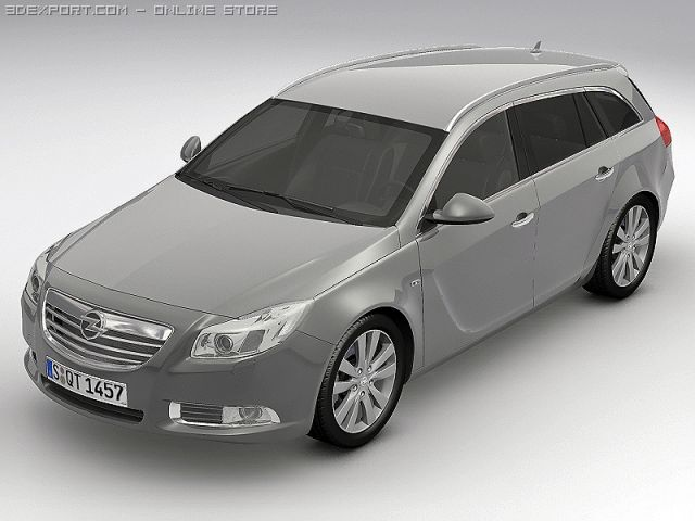 2010 Opel Insignia Sports Tourer 3D Model