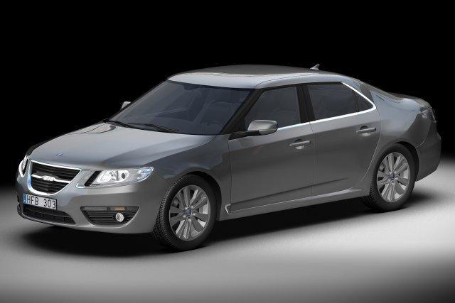 2010 Saab 95 Sedan 3D Model