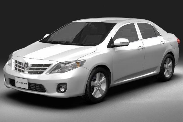 2011 Toyota Corolla 3D Model