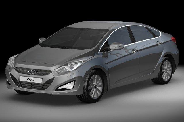 2012 Hyundai i40 Sedan 3D Model