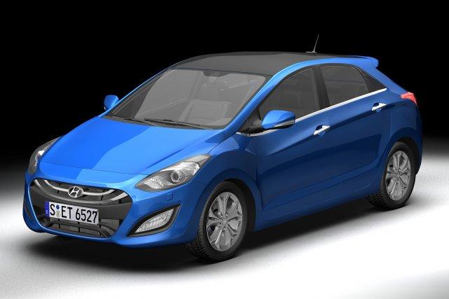 2013 Hyundai i30 Elantra Touring 3D Model