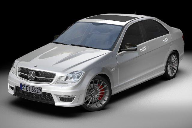 2012 Mercedes Benz C63 AMG 3D Model