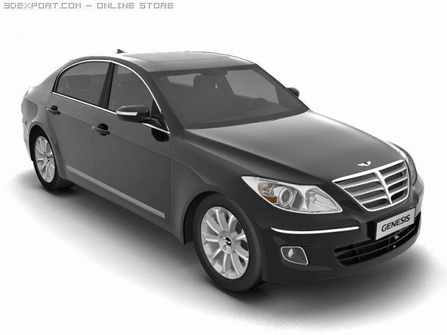 2009 Hyundai Genesis 3D Model