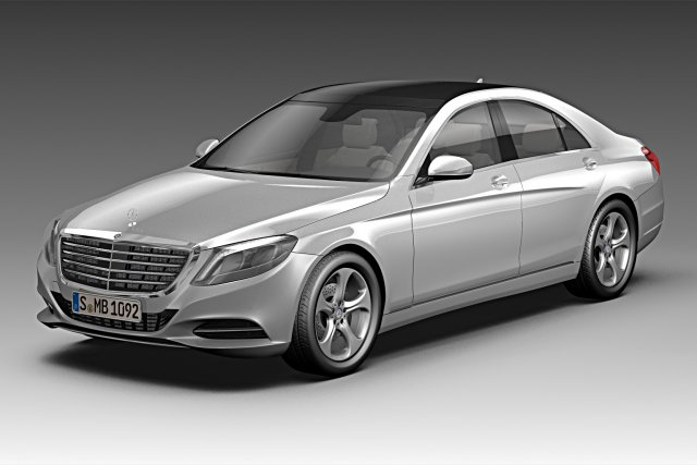 Mercedes Benz S Class 2014 3D Model