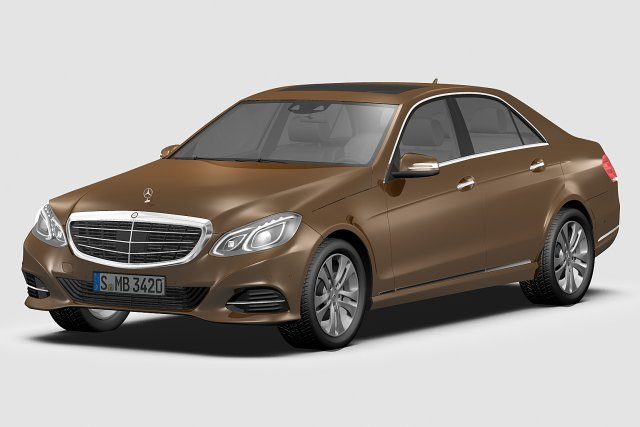 Mercedes Benz E Class 2014 3D Model