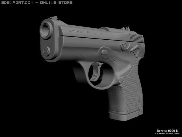 Beretta 9000 S 3D Model