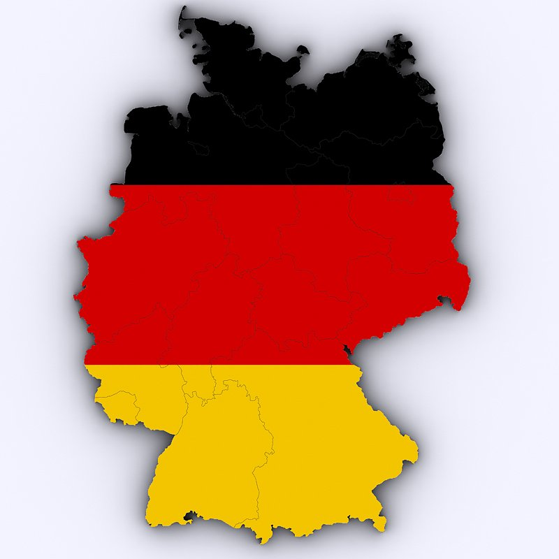 Map Of Germany 3d.Map Of Germany 3d Model In Environment 3dexport
