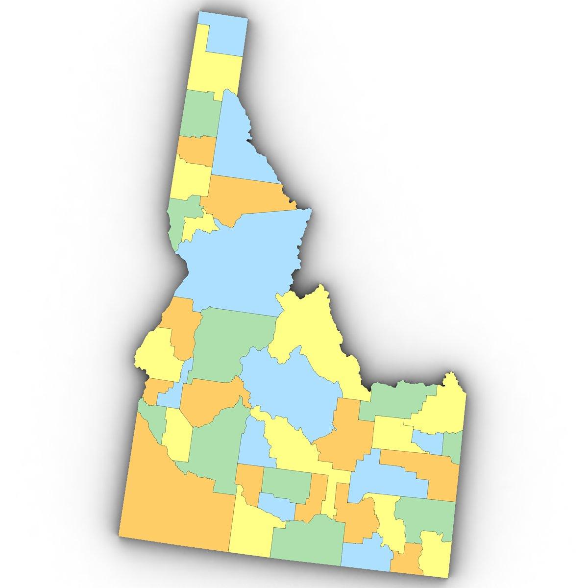 Idaho Political Map 3D Model in Environment 3DExport on idaho landform map, northern idaho map, idaho's border map, idaho county map, idaho weather map, idaho map 1910, elk city idaho area map, idaho flag, nm geography map, idaho state map printable, idaho time zone, idaho politics, idaho legal map, idaho climate map, earth relief map, idaho historical map, idaho highway map, idaho outline, idaho resource map, idaho funny map,