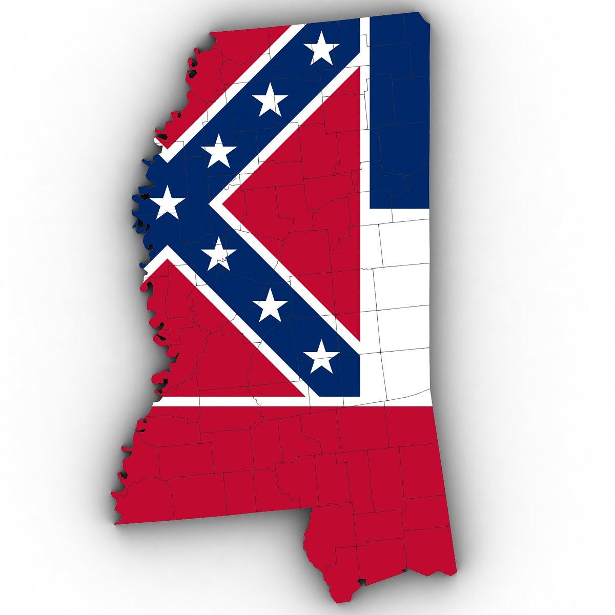 Mississippi Political Map 3d Model In Environment 3dexport