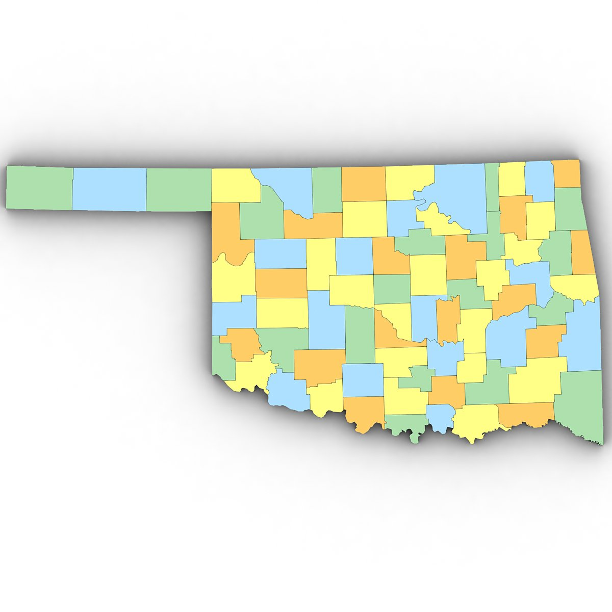 Oklahoma Political Map 3d Model In Environment 3dexport