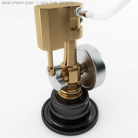 Minature Wobble Steam Engine 3D Model