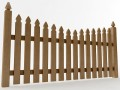 Gothic Spaced Picket Fence