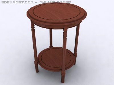 Antique Round Yew Table 3D Model