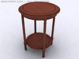 Antique Round Yew Table