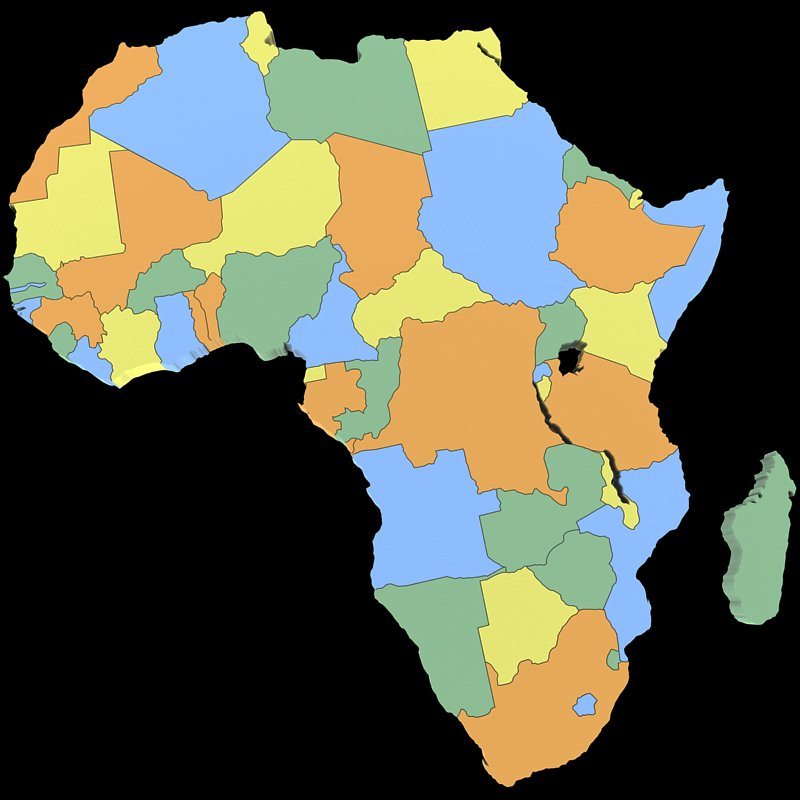 World Map 3d Model.Africa Map 3d Model In Other 3dexport