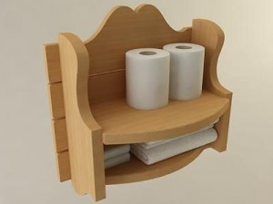 Country Bathroom Storage Shelf