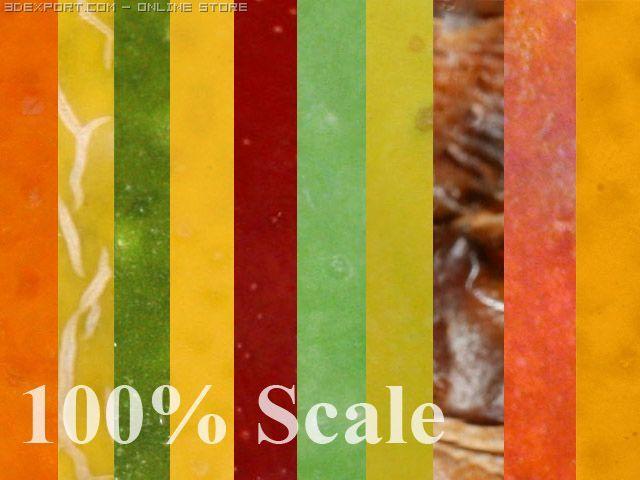 HighRes Fruits Textures 3D Model