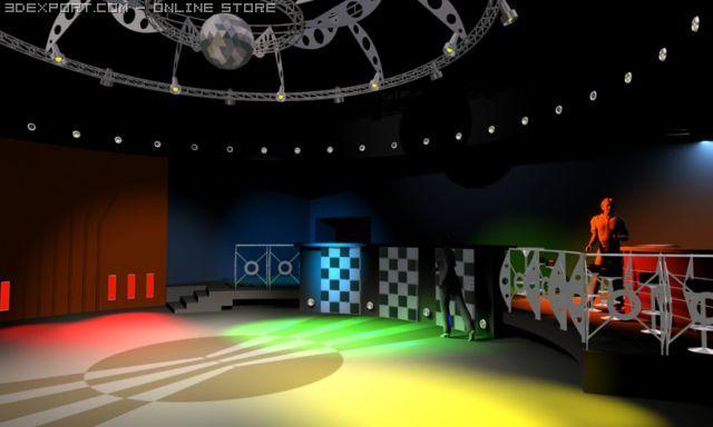 Interior of Dancing Club 3D Model in Miscellaneous 3DExport