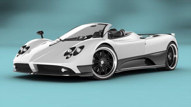 Pagani Zonda F Roadster RIGGED 3D Model