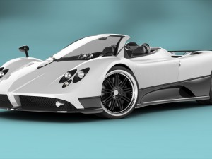 Pagani Zonda F Roadster RIGGED 3D Model. Mickyboys. Sport Cars