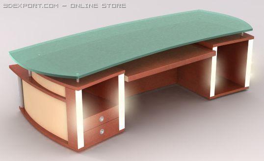 Charmant Table For Music Studio 3D Model