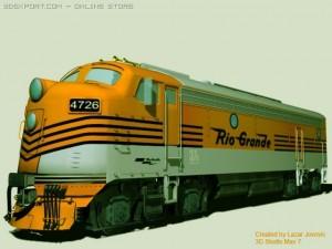 Rio Grande locomotive