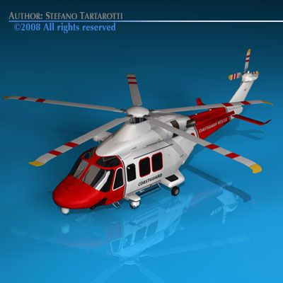 AW139 coastguard 3D Model