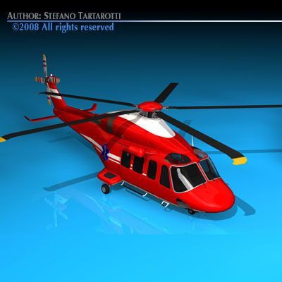 AW 139 air ambulance 3D Model