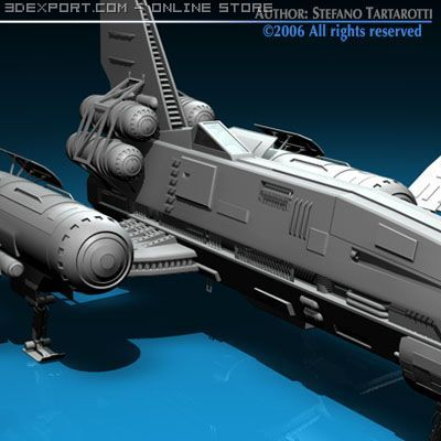 Space fighter 3D Model