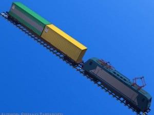 European cargo train