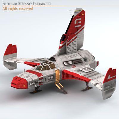 Spaceship 4 3D Model