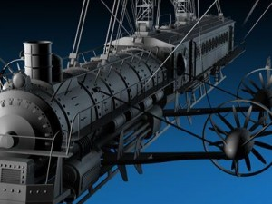 J. Verne flying train