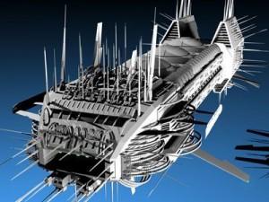 Porcupine spaceship