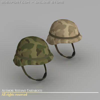 Army helmet 3D Model in Helmet 3DExport