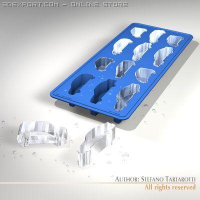 Ice tray 3D-Modell in Küche 3DExport