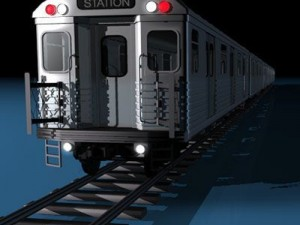 Subway train without interior