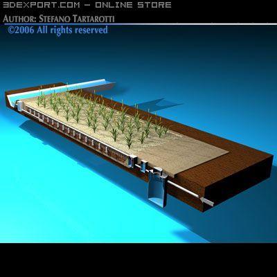 Constructed wetland 3D Model