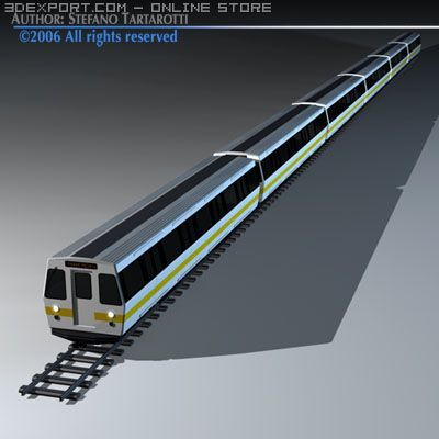 Subway train2 without interior 3D Model