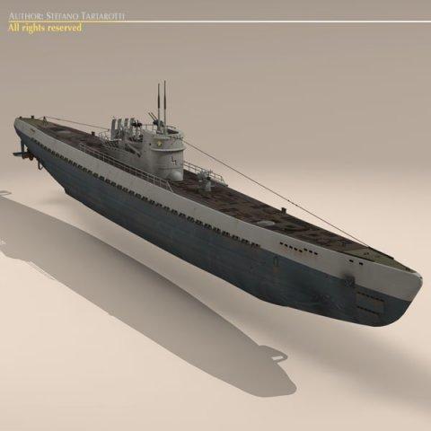 Type IX Uboat submarine 3D Model