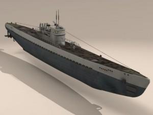 Type IX Uboat submarine