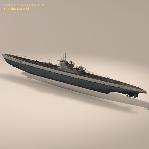 type ix uboat submarine 3d model in submarine 3dexport