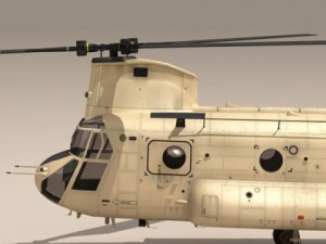 Ch47 EAF Helicopter